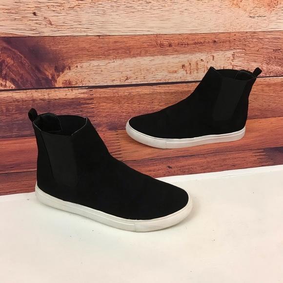 8b1331b53c0 Steve Madden Dain Black High Top Sneakers Size 10